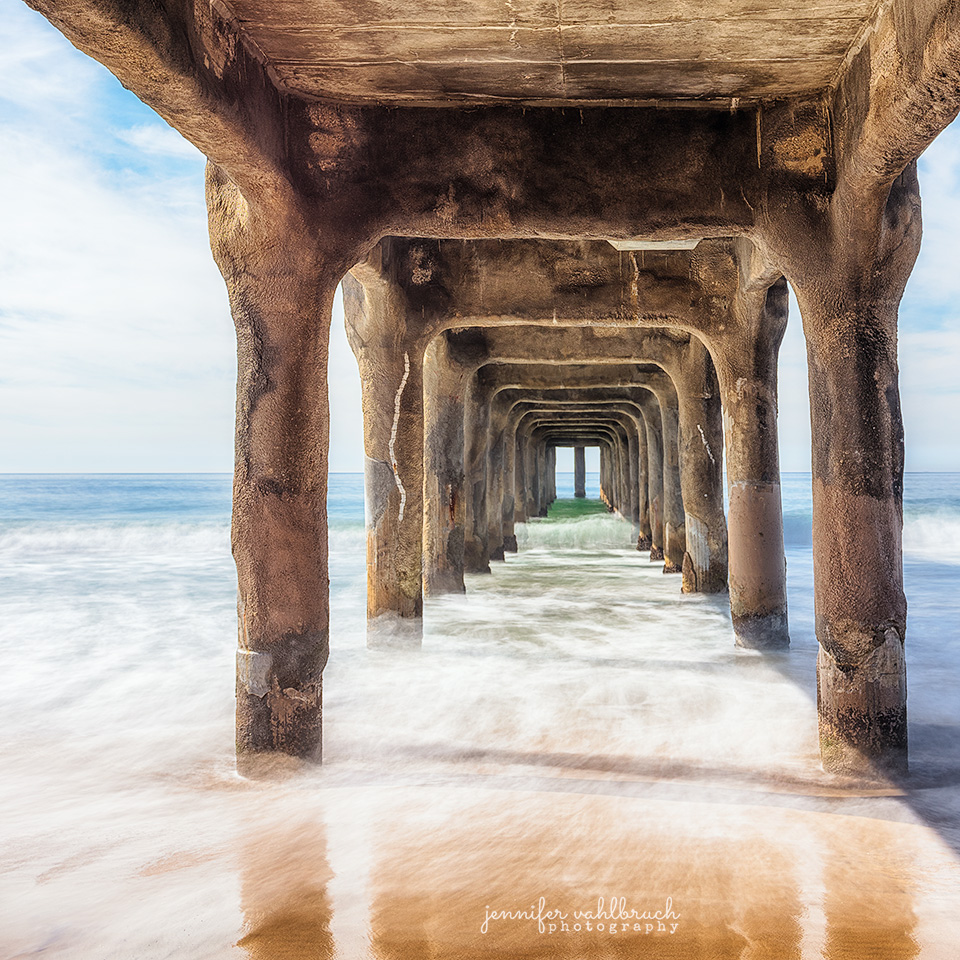 Tunnel into the Ocean - Manhattan Beach, California